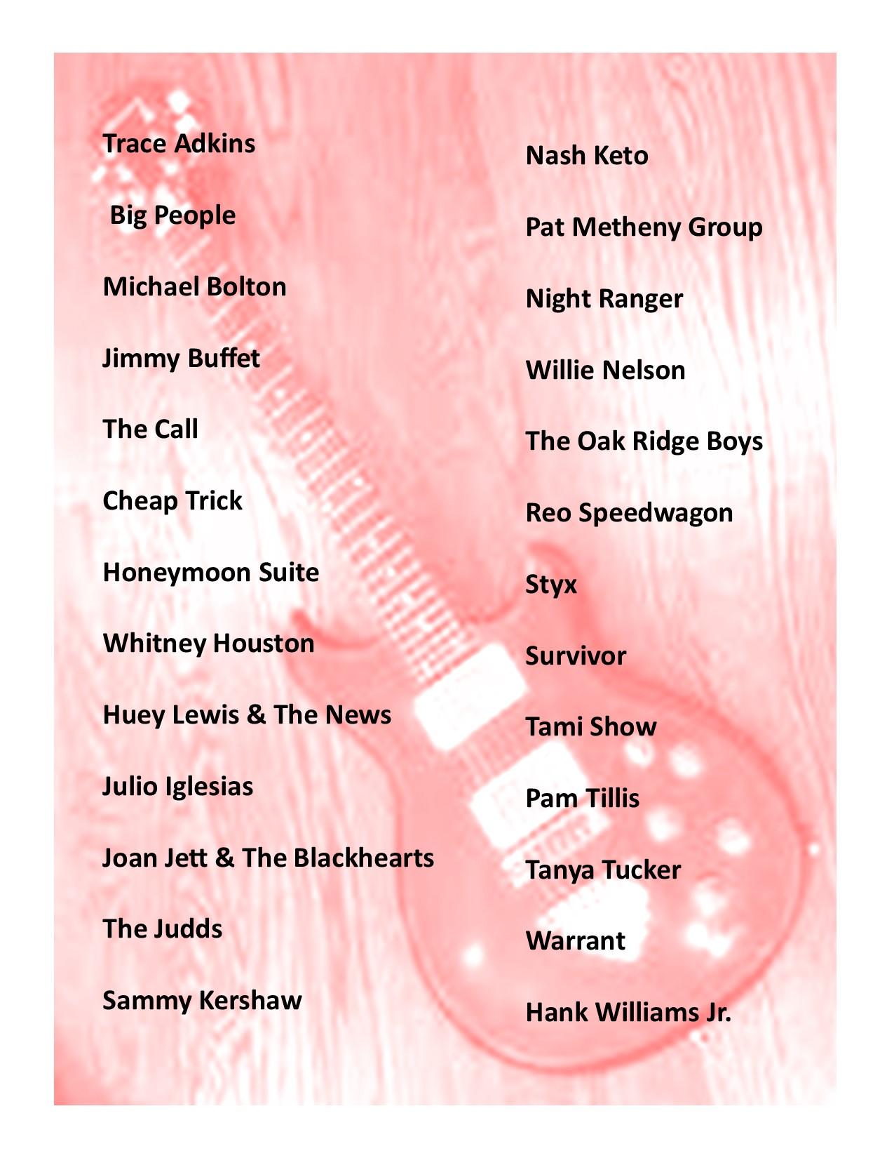Musical Artist List (09-10-20) (2)